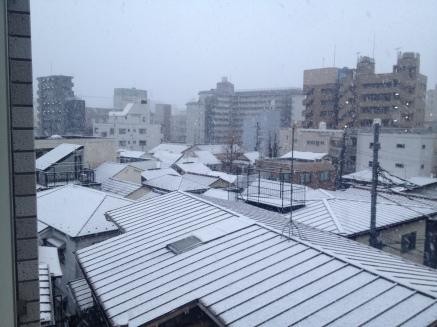Les toits enneigés de Shimo Ochiai