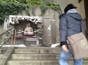 Divinité et escalier