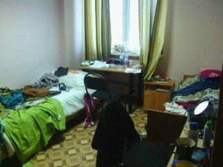 Ma chambre (avec Marlène). Notez que c'est un peu bordélique, mais en général… ça allait.