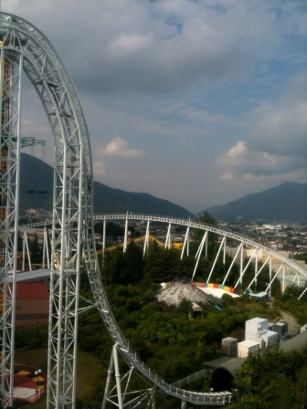 Panorama sur le roller coaster