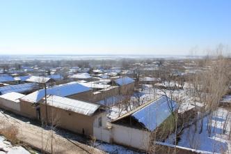 Village derrière la mosquée