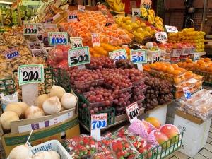 Fruits et légumes au Japon - source http://www.travelordie.net/