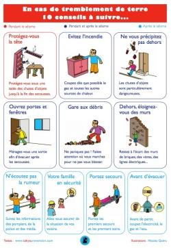 PDF en Français sur les conseils à appliquer en cas de tremblement de terre