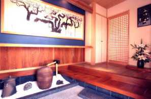 Un genkan savamment décoré - Source: http://www.suehiro-kensetsu.com/