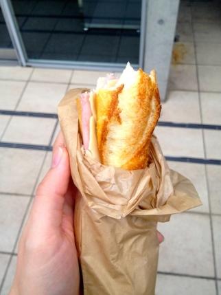 Incroyable mais vrai, à Matsumoto j'ai retrouvé le goût d'un sandwich jambon / gruyère