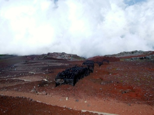 Le terrain change un peu ... Mais c'est très dur car le sol n'est pas stable et le manque d'oxygène se fait sentir.